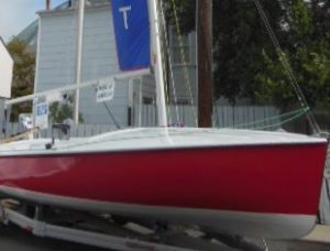 Racing Boat in Annapolis