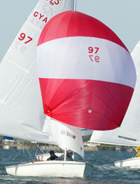 Radial Stripe Spinnaker